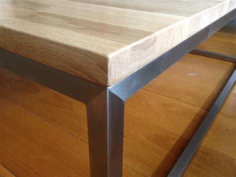 houten blad voor salontafel rvs salontafel eiken houten blad hagendijk techniek