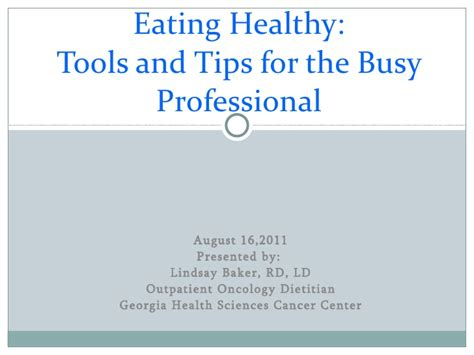 Offer Healthier Strategy For And Professional healthy tools and tips for busy professional