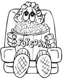 how to color popcorn popcorn coloring sheet coloring home