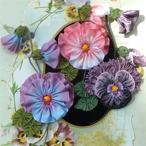 Handmade Flowers With Ribbons - handmade ribbon flowers ribbons and trims by