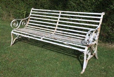 antique wrought iron garden bench antique victorian strap work 6 ft wrought iron garden bench 288456 sellingantiques