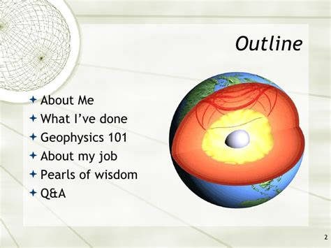 Career Day Presentation Outline by 2009 Asmsa Career Day Presentation My As A Geophysicist