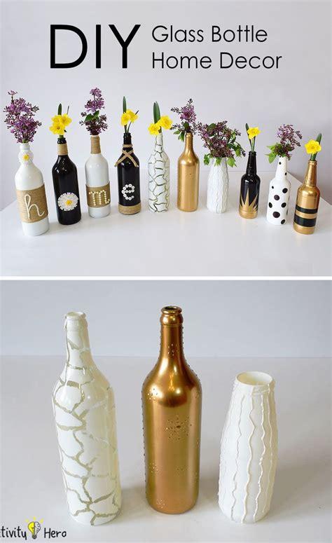 diy glass bottle home decor  simple ideas crafts