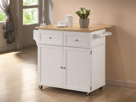 white kitchen island cart 8 ways to hide or dress up an kitchen trash can
