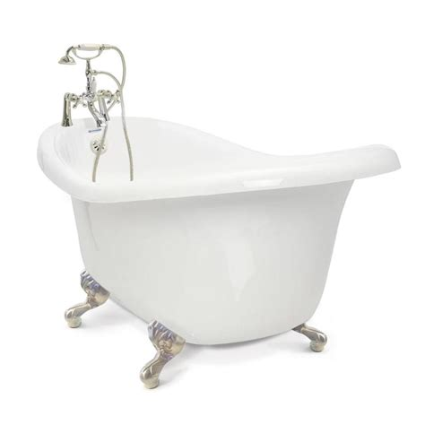 pictures of a bathtub shop american bath factory chelsea 60 in white acrylic