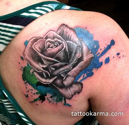black and grey tattoo artist nyc rose cover up by micle andersson tattoonow