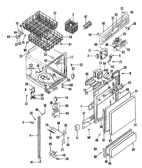 ge dishwasher diagram i a ge triton xl dishwasher only 4 1 2 yrs