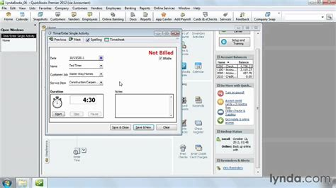 quickbooks timesheet tutorial how to use timesheets in quickbooks pro lynda com