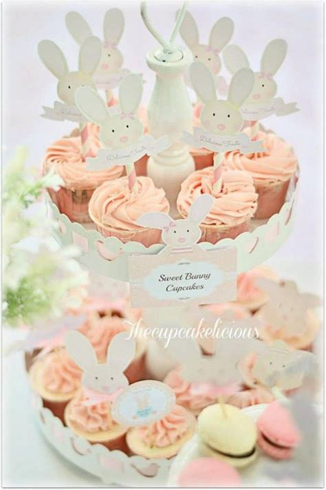 cute rabbit themes shabby chic bunny themed 1st birthday party with such cute