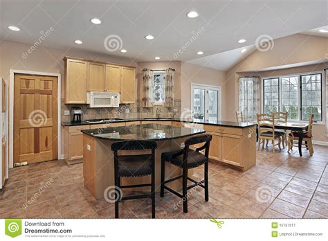 kitchen island eating area kitchen with eating area and island royalty free stock