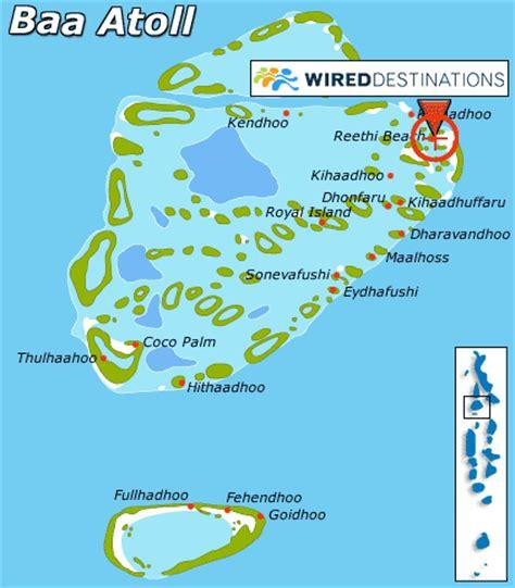 reethi island resort map location map for reethi resort in baa atoll reethi