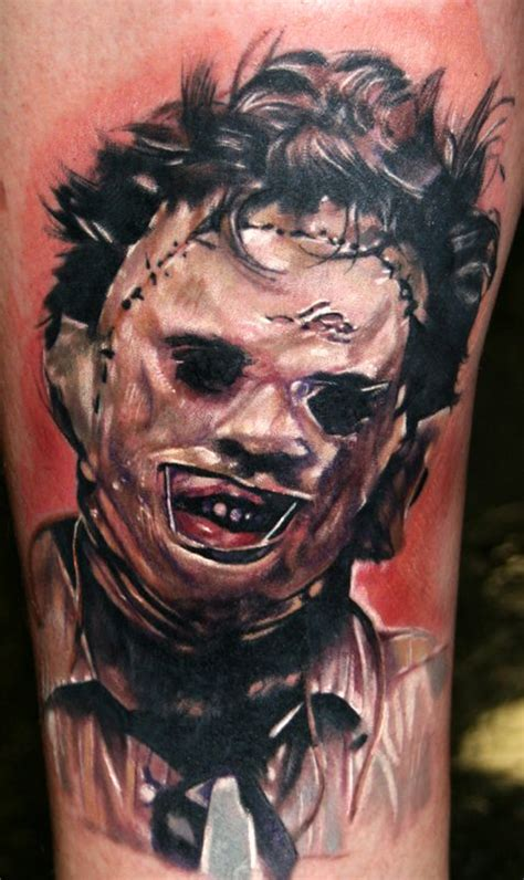 leatherface tattoo leatherface horror design chainsaw