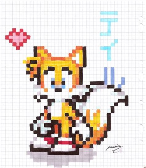 Paper Pixel Craft - tails paper pixel by the cat on deviantart