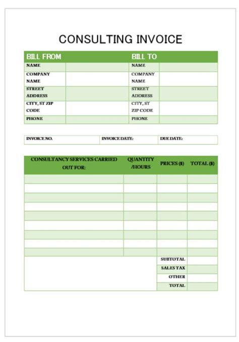 software consulting invoice template consulting invoice template 20 templates for consultants