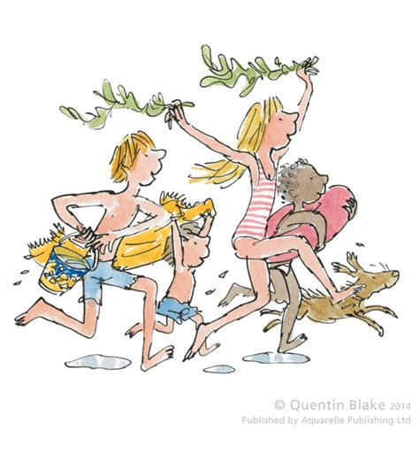 quentin blake in the down to the beach by quentin blake rennies gallery