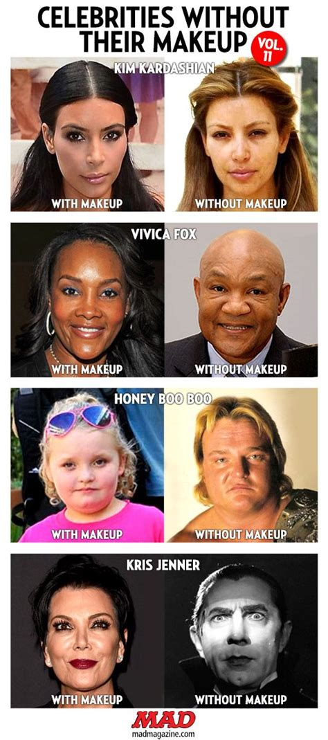 celebrities without their makeup mad mad magazine celebrities without their makeup vol 11