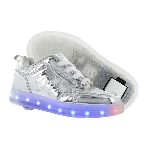 heelys light up shoes heelys premium 1 lo light up shoes silver chrome