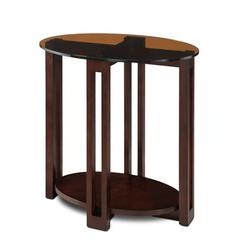 leick oval bronze glass top contemporary side table home