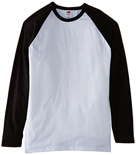 T Shirt Raglan Putih Hitam Banana fruit of the loom s baseball raglan sleeve t shirt