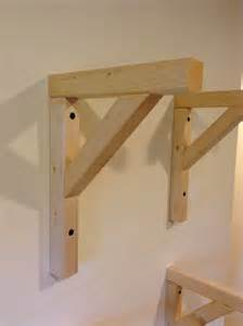 how to make simple wooden shelf brackets
