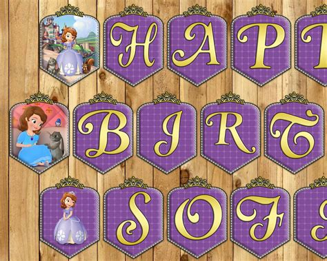 sofia the first printable birthday banner sofia the first birthday banner princess sofia by