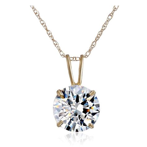 10k gold and solitaire pendant necklace made with