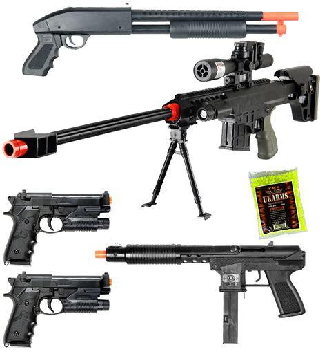 ebay airsoft new lot of 5 airsoft guns sniper rifle shotgun machine