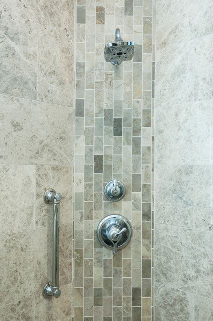 vertical subway tile marble subway tile vertical accent band transitional