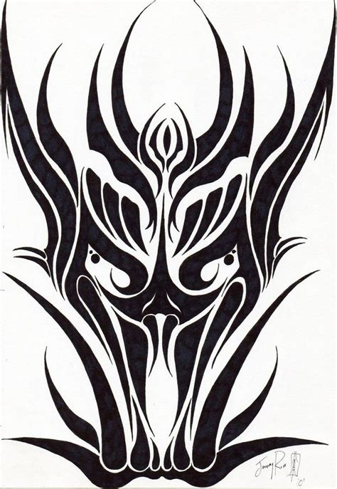tribal dragon head tattoos 26 best paint tribal images on