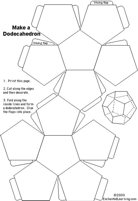 How To Make A Dodecahedron Out Of Paper - dodecahedron enchantedlearning