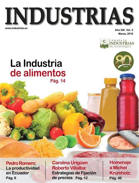 modelo de contestao alimentos 2016 revista industrias marzo 2016 by c 225 mara de industrias de