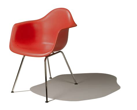 Red Armchair For Sale Eames Molded Plastic Armchair 4 Leg Base