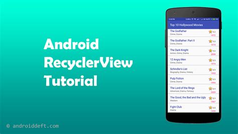 android tutorial recyclerview in android tutorial androiddeft
