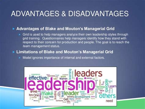 advantages disadvantages of people oriented leadership styles blake and mouton s managerial grid