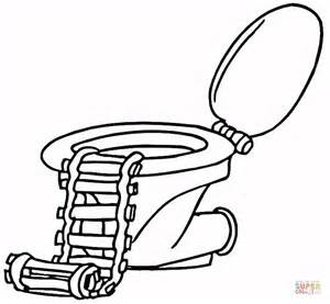 kleurplaat toilet toilet with a ladder coloring page free printable