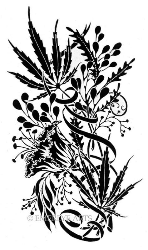 weed plant tattoo designs cannabis print big news coming soon twine hempwear