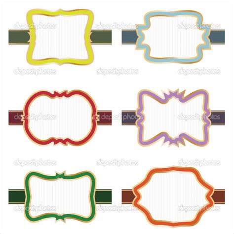 decorative printable address labels decorative label templates pertamini co