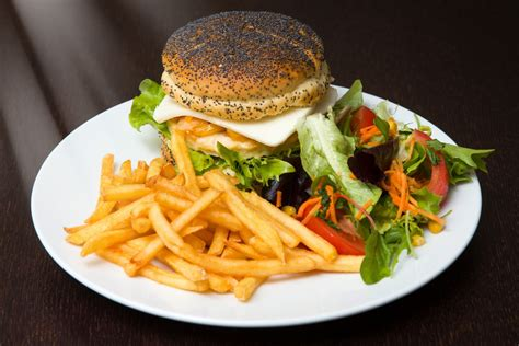 cuisine burger free images restaurant dish meal produce plate fast