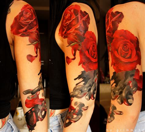 rose chain tattoo roses and chains 2nd day by grimmy3d on deviantart