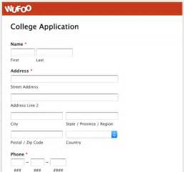 wufoo blog 183 04 college application template