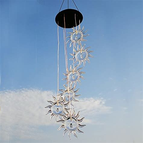solar light wind spinners sunflower color changing solar light wind chimes multi