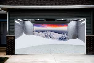 3d Garage Door Covers Tree Snow Garage Door Covers 3d Banners Decorations Outdoor Billboard Murals