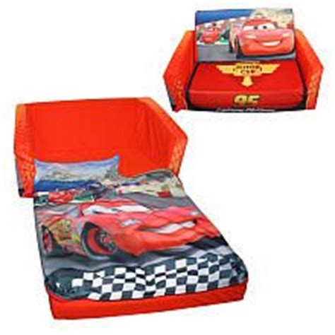 cars kids sofa disney pixar s cars the movie flip open slumber sofa