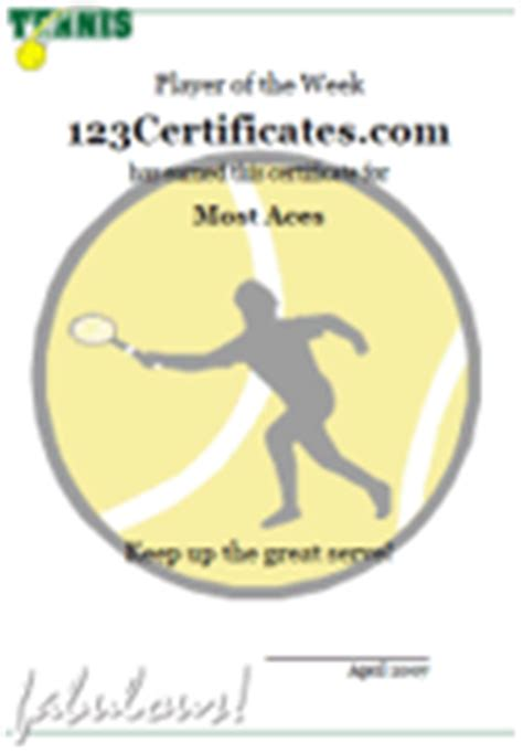 tennis certificates and tennis award templates