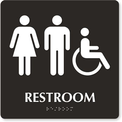 bathroom sign people for people with disabilities inaccessible fair bathrooms