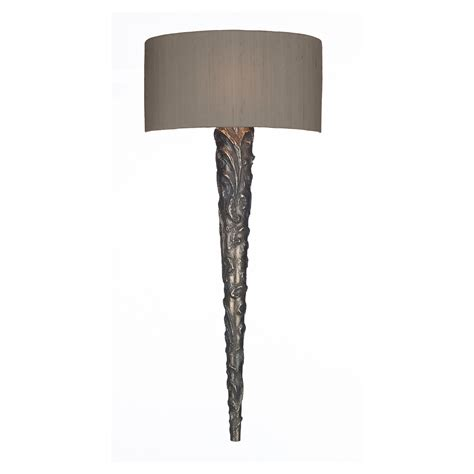 Bronze Wall Lights Knurl Bronze Wall Light With Bespoke Silk Shade
