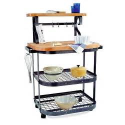 enclume butcher block bakers kitchen cart with hutch