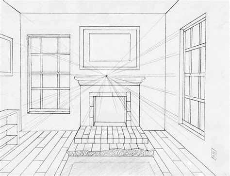 homework one point perspective room drawing pin by joy van wijk on interior pinterest perspective
