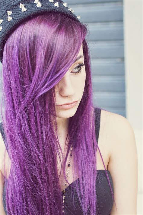 girl hairstyles purple emo scene purple and alternative hair on pinterest