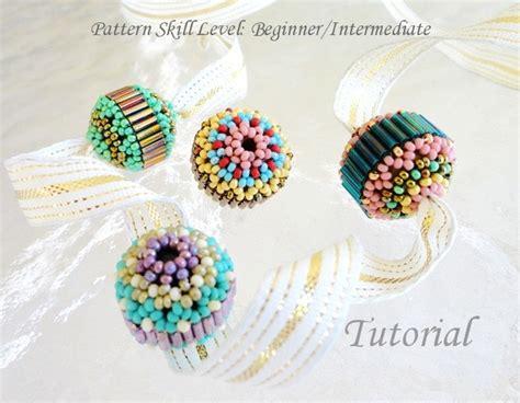 beaded with bugles beading tutorial beadweaving pattern